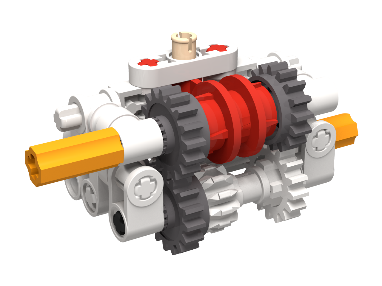 Lego Simple 2 Speed Gearbox