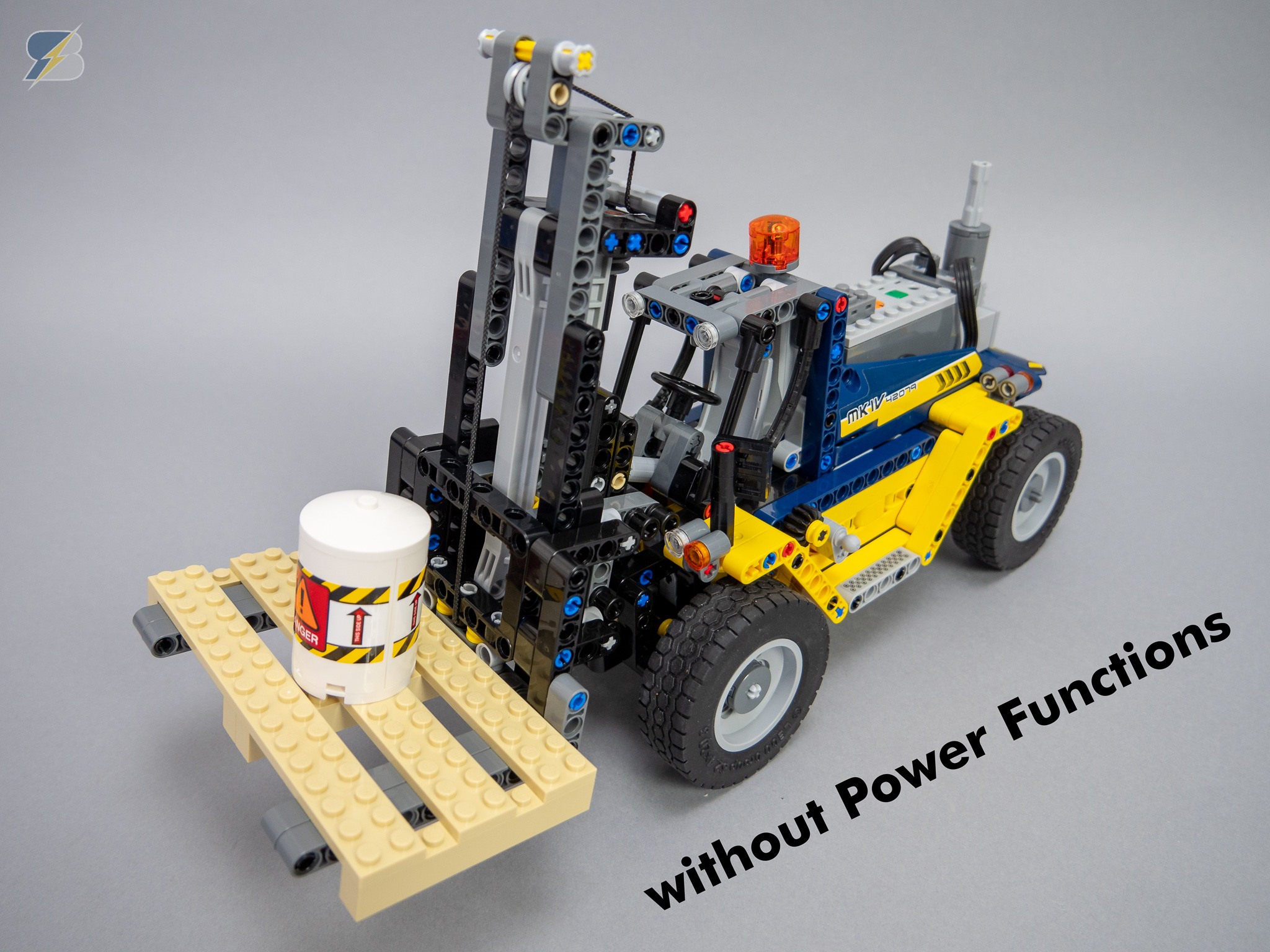 Technic 42079 Heavy Duty Forklift RC upgrade pack without Power Functions |  MOCHUB
